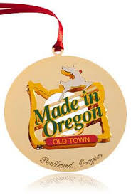 town made in oregon ornament portland or portland ornament