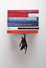 Floating Bookcases Amazon Com Umbra Conceal Floating Bookshelf Large Silver Home
