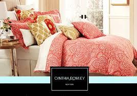 amazon com cynthia rowley 3 piece king size cotton duvet quilt