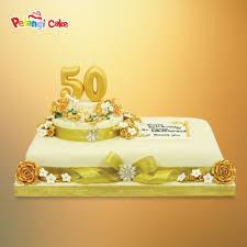50th wedding anniversary cake square kumpulan birthday wedding