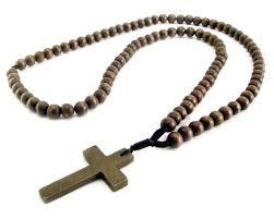 wooden rosary wood bead rosary necklace brown amigaz attitude approved accessories
