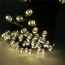 12m solar powered led string lights waterproof decorative copper