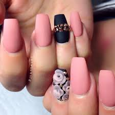 matte nail designs with rhinestones styles nail design