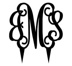 custom metal monograms for interior and exterior