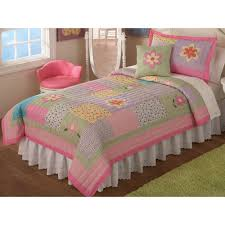 girls bed quilts better homes and gardens kids ruffled stripes bedding quilt set