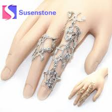 knuckle finger rings images Punk hollow armor joint knuckle finger rings chain link full jpg