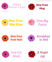free printable mother u0027s day coupons my momma taught me