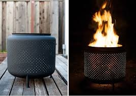 Outdoor Fireplaces And Fire Pits That Light Up The Night Diy Washing Machine Fire Pit Genius Bob Vila