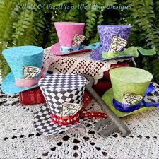 Alice In Wonderland Baby Shower Decorations - alice in wonderland decorations 5 mad hatter party favors mini top