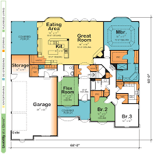 One Story Open Concept Floor Plans Open Floor House Plans One Story Home Office