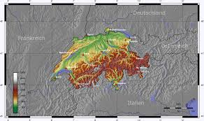 Topographic Map Of Europe by Map Of Switzerland Topographic Map Worldofmaps Net Online