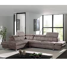 canapé d angle marron en tissu sofamobili