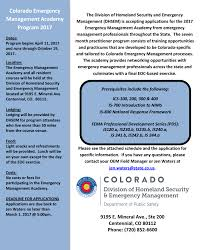 Colorado Wildfire Training Academy by Apply Today For 2017 Colorado Emergency Management Academy