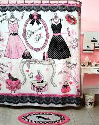 Pink And Black Bathroom Accessories by Paris Bathroom Gifts