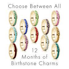 Custom Birthstone Necklaces Gold Stackable Custom Birthstone Eternity Charm Necklace