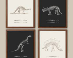 Dinosaur Wall Art Etsy - Kids dinosaur room