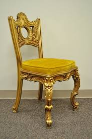 gold vanity stool french baroque style gold gilt vanity or desk with chair attr to
