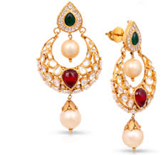 malabar earrings diamond gold pearl and emerald earrings malabar g d julie s