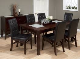 chadwick espresso crackled glass inserts extendable dining room