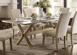 amazon com modern zinc top dining room furniture in weathered