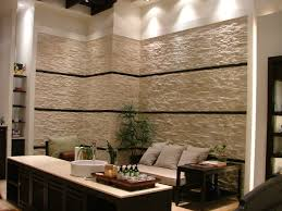 Wohnzimmer Wandgestaltung Wohnzimmer Wandgestaltung Steinoptik Ruhbaz Com