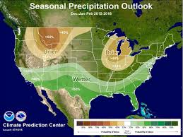 map of weather forecast in us noaa s winter weather forecast 2016 strong el nino unofficial