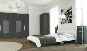 High Gloss Bedroom Furniture by Fitted Bedrooms Metallic Grey Wardrobes The Cheshire Bedroom