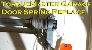 Overhead Garage Door Spring Replacement by Wayne Dalton Torquemaster Garage Door Spring Replacement Youtube