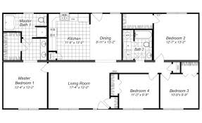 4 bedroom floor plans awesome free 4 bedroom house plans and designs new home plans design