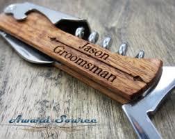 wooden groomsmen gifts personalized wine bottle opener groomsmen gifts