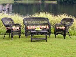 outdoor garden the home bahia tan finish wicker patio furniture