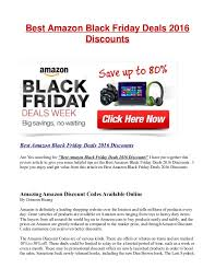 black friday deal amazon best amazon black friday deals 2016 discounts