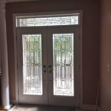 lead glass door inserts wrought iron vs decorative glass door inserts