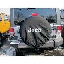 white jeep 2018 mopar 82209953ab wrangler spare tire cover black denim with white
