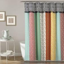 bohemian stripe shower curtain lush decor www lushdecor com
