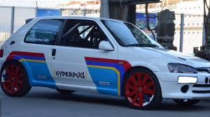 percho car megara racing circuit peugeot 106 konkon track car httc 05 03 17