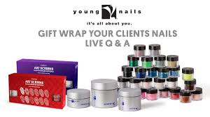 young nails live gift wrap your clients nails with synergy gel