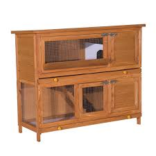 6 Rabbit Hutch Pawhut 48 Inch Large Wooden Pet Rabbit Hutch And Run Hutches Cage