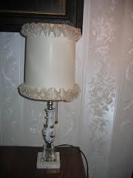 Vintage Bedroom Lighting Vintage Porcelain Floral Design Pull Chain Bedroom L