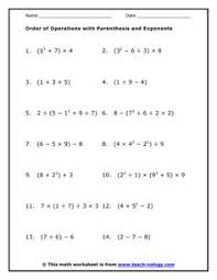 Order Of Operations Worksheet Answers The Distributive Property Worksheets Math Aids Com