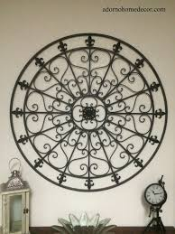 Wrought Iron Home Decor Large Round Wrought Iron Wall Decor Rustic Scroll Fleur De Lis
