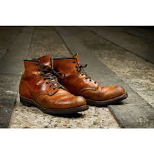 classic leather motorcycle boots red wing mens boots 9013 beckman round classic dress chestnut