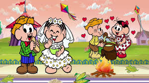 Famosos Festa Junina Turma da Mônica completo Desenho da Mônica Cebolinha  @EN42