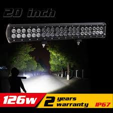 4x4 Led Light Bars by Aliexpress Com Buy 20 Inch 126w Led Light Bar For Tractor Atv
