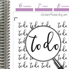 To Do Stickers To Do Stickers To Do Planner Functional Planner Text Stickers Day