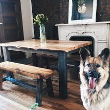 dog barn the aiden reclaimed barn wood dining table farmhouse table
