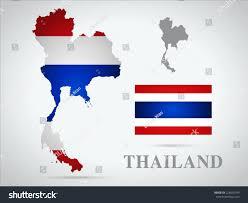 Thailand World Map by Thailand World Map Flag Stock Vector 228035749 Shutterstock