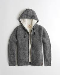 guys sherpa lined hooded sweater guys tops hollisterco