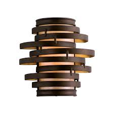 Wall Sconce Bronze Corbett 113 11 Vertigo 1 Light Wall Sconce In Bronze Gold Leaf