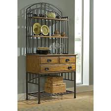 wooden living room drawers stained oak kitchen hutch metal frame